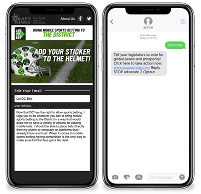 Text Messages & Mobile Keywords Screenshot